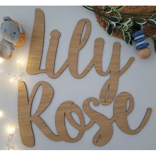 Bamboo Name Plaque