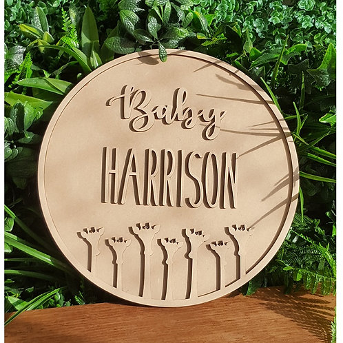 Personalised 3D MDF name plaque