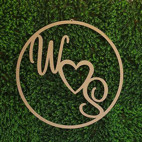 Personalised Two Initials Round Hoop