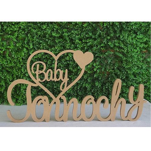 Custom Baby Surname heart Sign