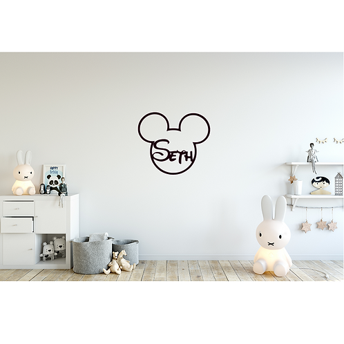 Personalised Name Mickey Mouse Hoop