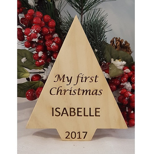 Personalised My/Our First Christmas Tree