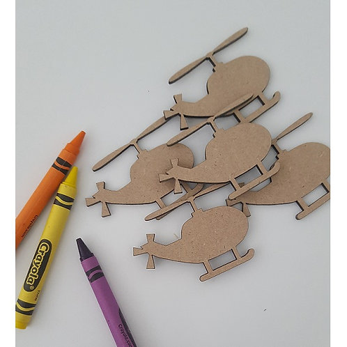 Packs of Shapes Cut Out 3mm - Helicopter