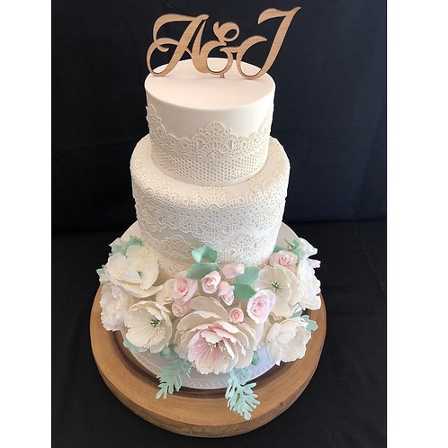Two Initals Cake Topper
