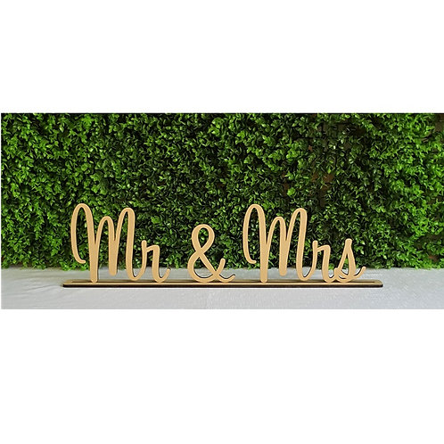 Mr & Mrs with base