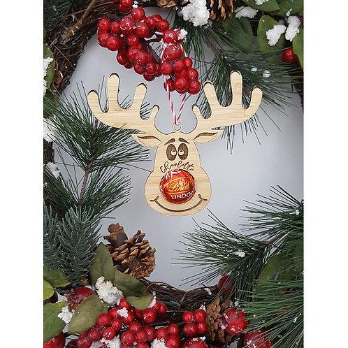 Bamboo Personalised Reindeer Chocolate Holder