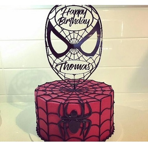 Personalised Spiderman Cake Topper