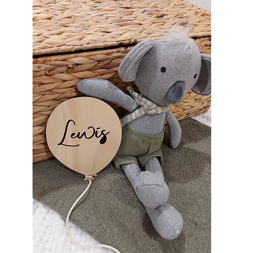 Wooden Personalised Name Balloon - Large