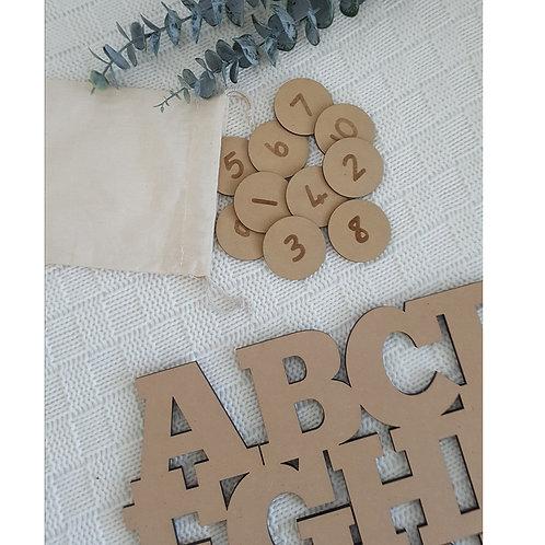 Alphabet Tiles -  Numbers