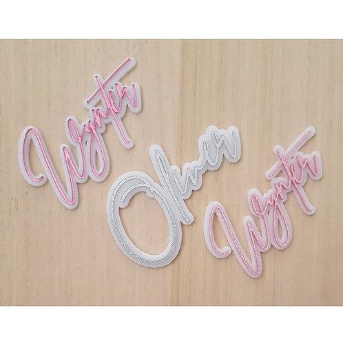 3D Acrylic Name Sign