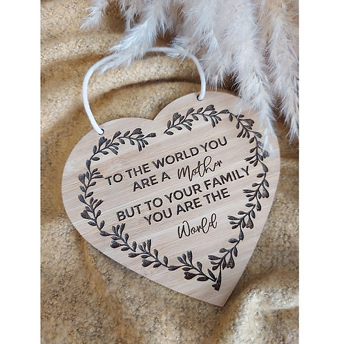 Heart Family Hanging Plaque