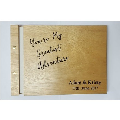 Wooden Guest Book Style 5