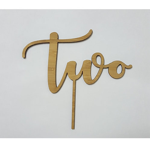 Two Style 12 Cake Topper