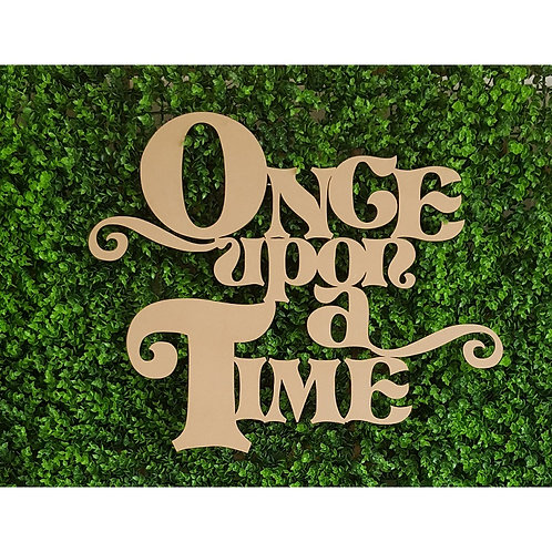 Once Upon a Time  Plaque