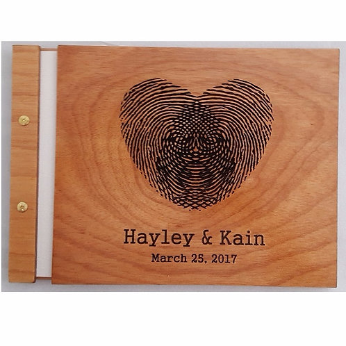 Wooden Guest Book Style 1