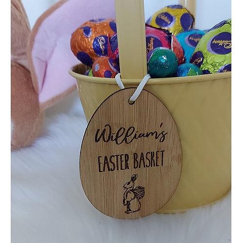 Vintage Easter Basket Tag - Style 1