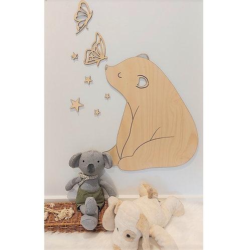 Wooden Bear Cub