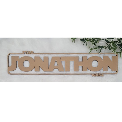 Personalised Star Wars Sign