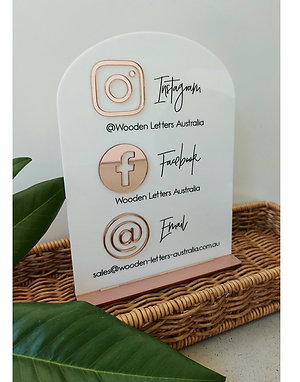 Business Social Media Sign - Arch