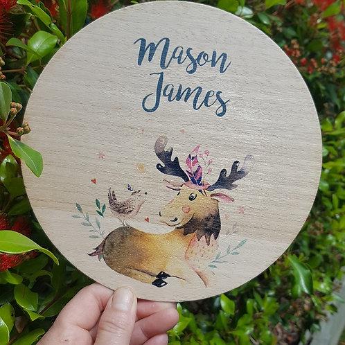 Moose Printed Plaque