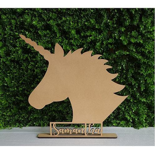 Personalised Unicorn Sign with base