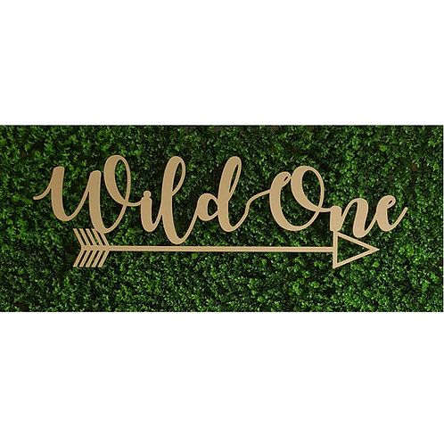 Wild One Wall Hanging Sign