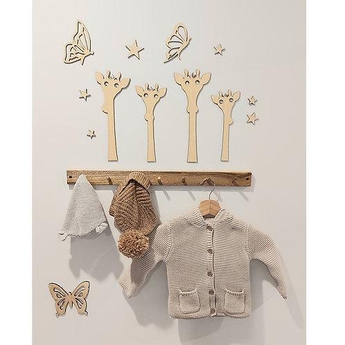 Wooden Giraffe - Set of 4