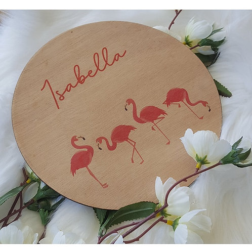 Flamingo Printed Plaque