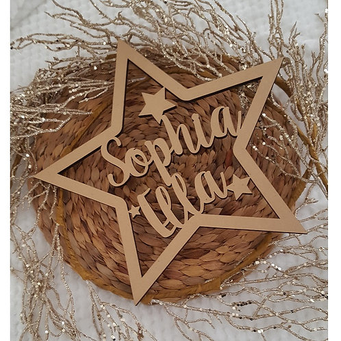 Personalised Name with Star