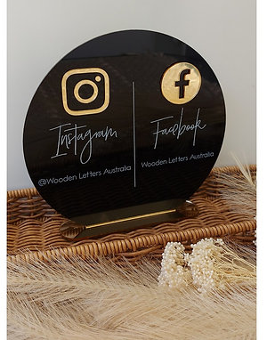 Business Social Media Sign - Circle