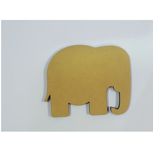 Packs of Shapes Cut Out 3mm - Elephant