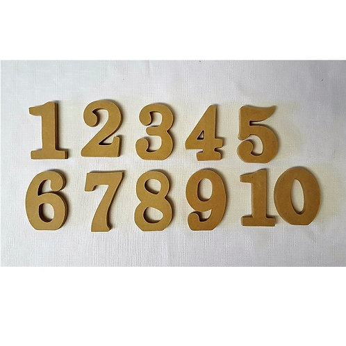Sets of 10, 11, 12, 13 or 14 Block Table Numbers