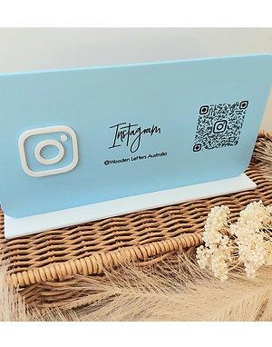 Business Social Media Sign - Landscape with QR code