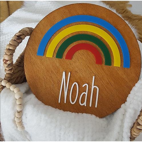 Rainbow Name Acrylic 3D Plaque