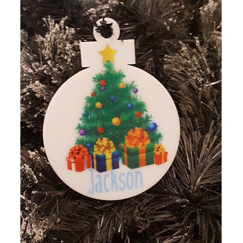 Personalised Name Christmas Tree Ornament