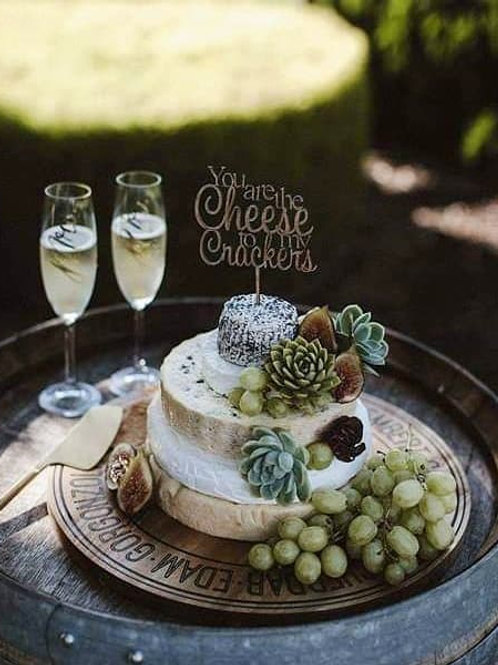 Cheese Crackers Cake Topper