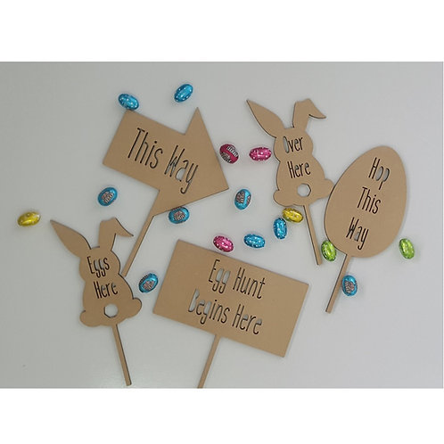 Easter Hunt Signs - Set of 5