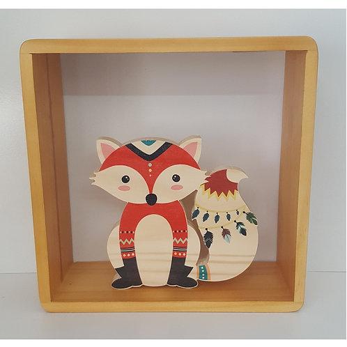 Printed Fox Shelf Figure