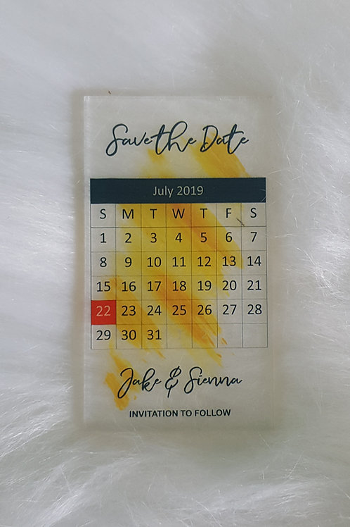 Acrylic Save The Date Design 7