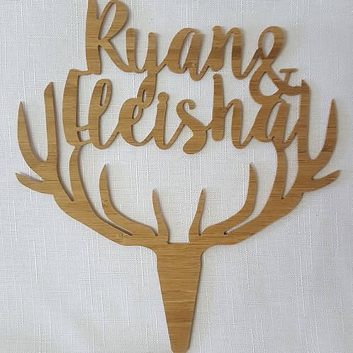 Antlers with name