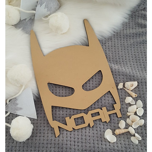 Batman Mask with Personalised Name