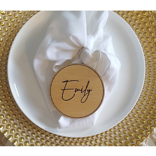 Wooden Engraved Coasters DOUBLE SIDED Personalised Name