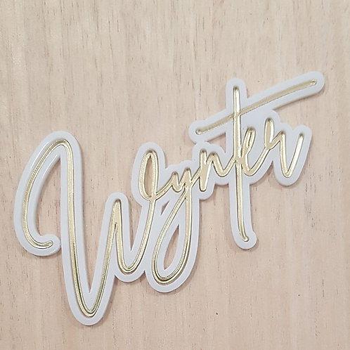 Duo Acrylic Name Sign