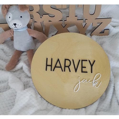 Two Names Acrylic 3D Plaque -Small