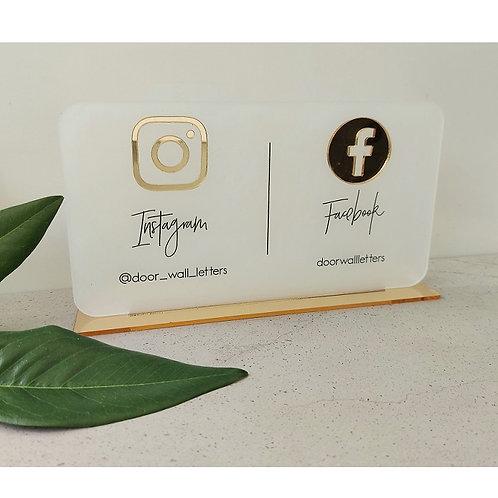 Business Social Media Sign - Landscape