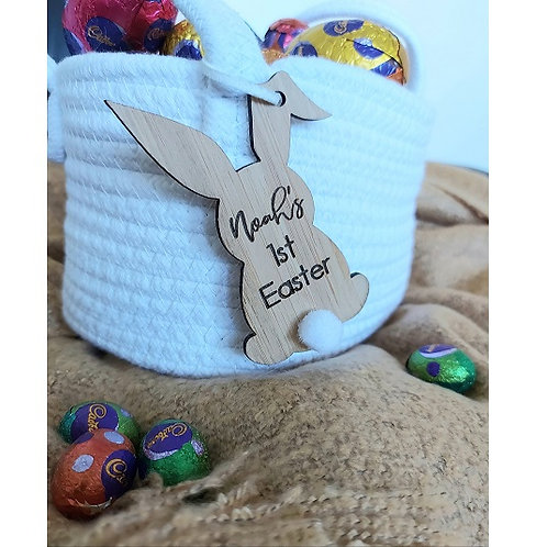Personalised Name & 1st Easter Tag
