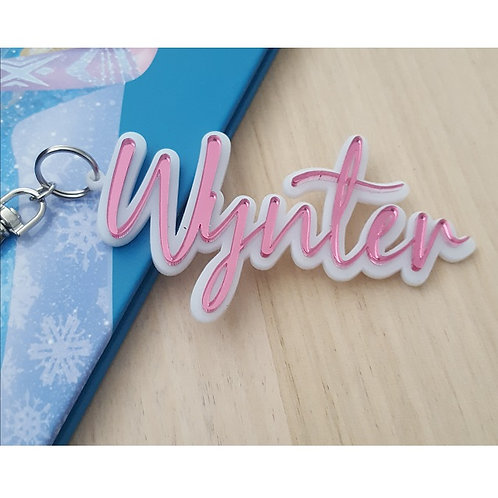 Acrylic 3D Personalised Bag Tag