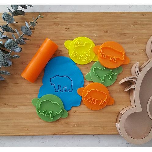 Animal Set Play Doh Stamps - Set of 5