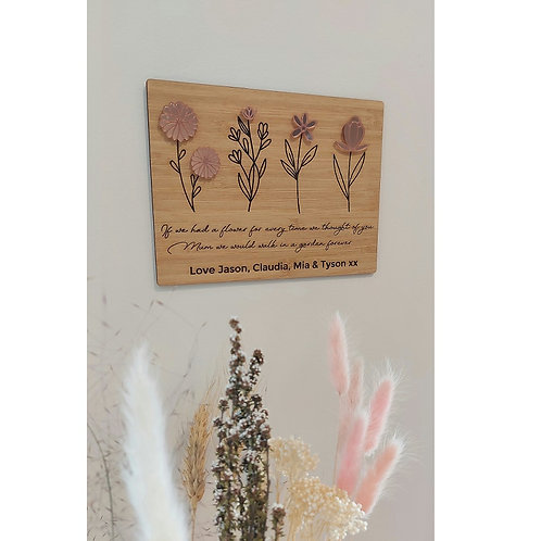 Flower Plaque with stand