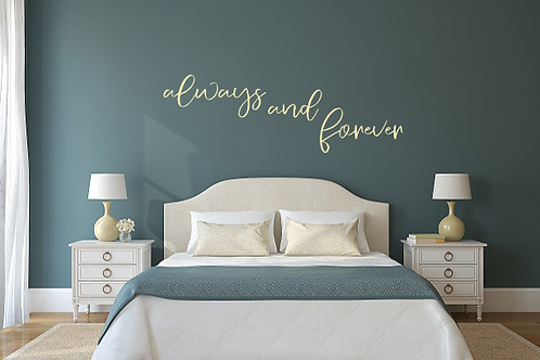 always and forever LARGE hanging sign